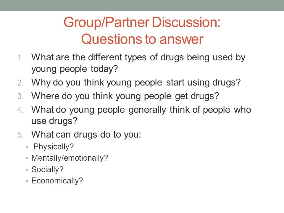 a discussion on why people use drugs Portrayals of people who use drugs  evidence-based discussion about humane and effective ways to reduce the harms caused by drugs and drug control policies to.