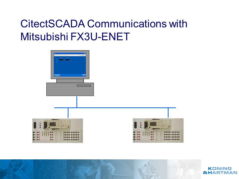 CitectSCADA Communications with Mitsubishi FX3U-ENET - ppt