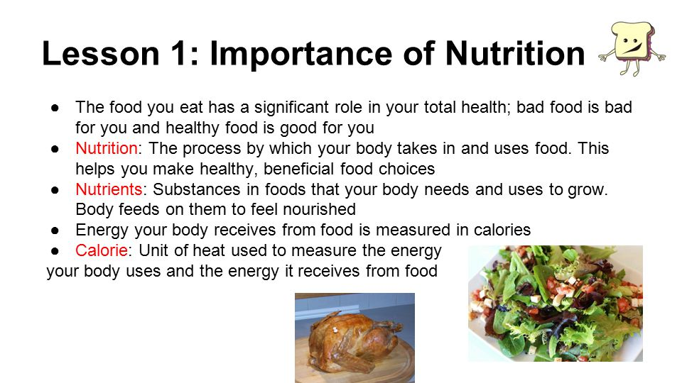 the importance of good nutrition at any age Physical activity and nutrition work together for better health being active increases the amount of calories burned as people age their metabolism slows, so maintaining energy balance requires moving more and eating less.