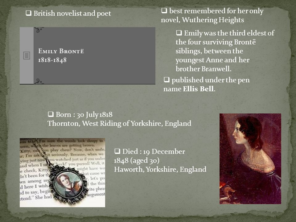 the basic elements and themes of wuthering heights by emily bronte Learn wuthering heights literature emily bronte with free interactive flashcards  the different locations in wuthering heights to emphasise the themes of the.