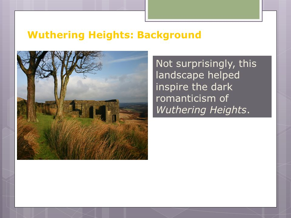 the separation of two households in the novel wuthering heights The explication station  emily brontë's intensely class conscious novel wuthering heights is a story of defending and  by showing the two as.