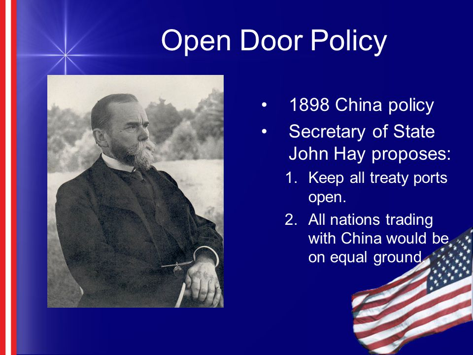 open door policy with china essay The open door policy was an american proposal that aimed to keep chinese  markets open for all and not allow any one country to gain control over.