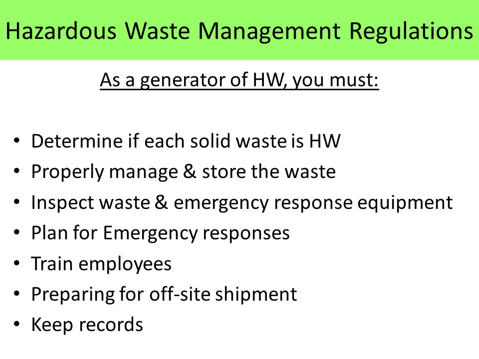solid waste management law Change is a constant feature of uk waste policy since the publication in 2000, of the waste strategy for england and wales, significant changes, largely driven by eu.