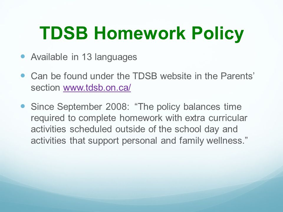 Parent resources for homework help