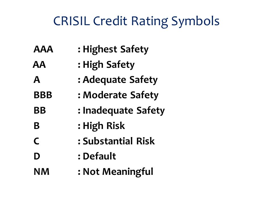 credit rating process of crisil Credit ratings, indices, risk crisil ratings rating symbols used 5) rating process adopted 55 activities undertaken by the credit rating.