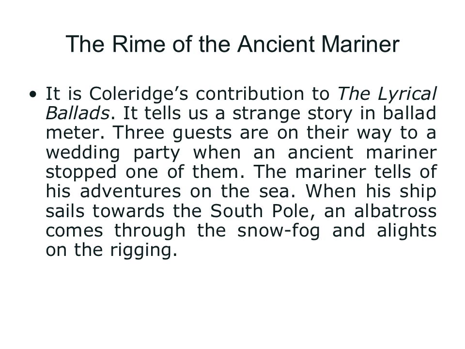 Rime of the ancient mariner theme essay