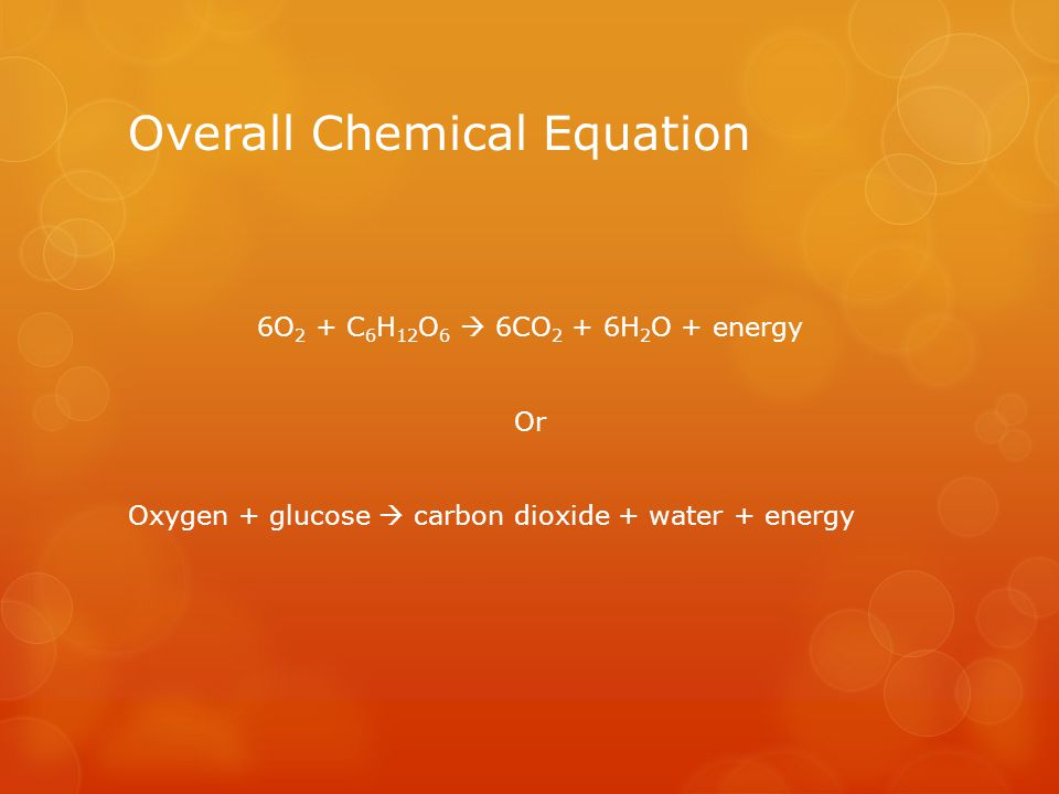 Overall Chemical Equation