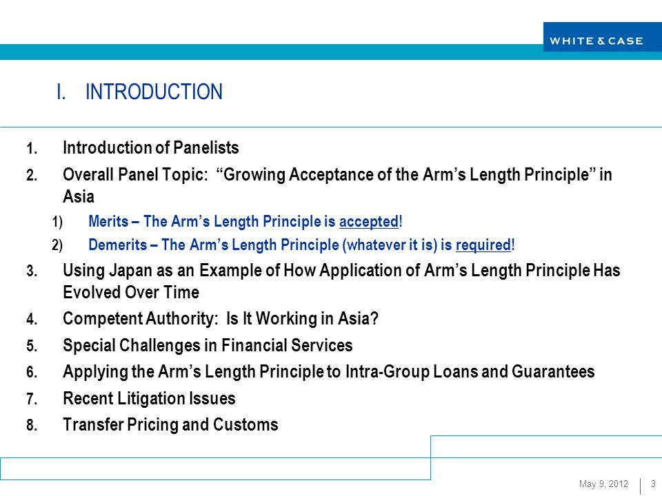 """arm length principle concept and concerns The arm's length principle therefore, many governments regulate transfer pricing rules most countries do this by adopting the """" arm's length principle """", that is, a requirement that transactions with a related party be made under comparable conditions and circumstances as transactions with an independent party."""