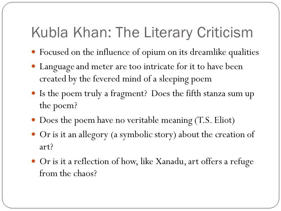 kubla khan theme