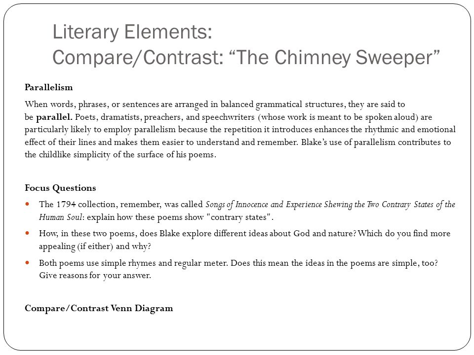Literary analysis of the chimney sweeper