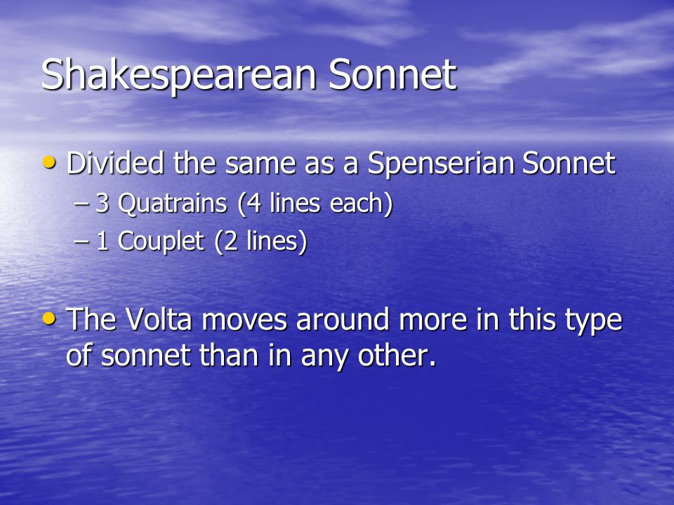 classic renaissance sonnets Read expert analysis on a guide to shakespeare's sonnets the sonnet form the classic petrarchan sonnet, invented in renaissance the shakespearean sonnet.