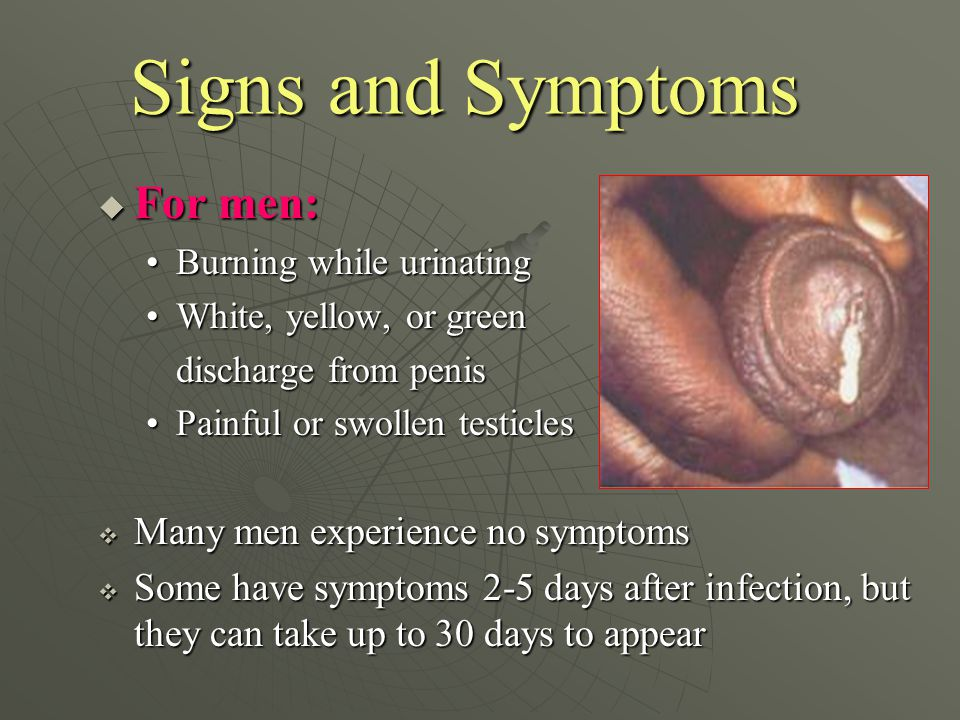 swollen penis infection