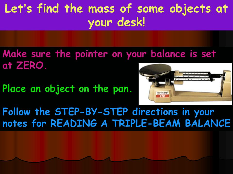 Let's find the mass of some objects at your desk!