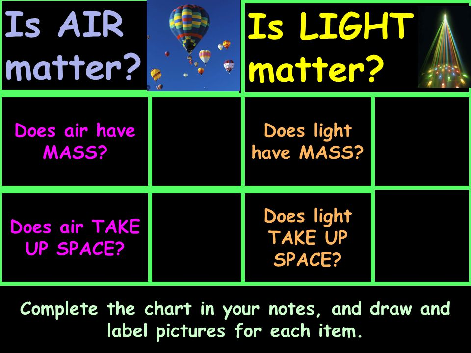 Does light TAKE UP SPACE