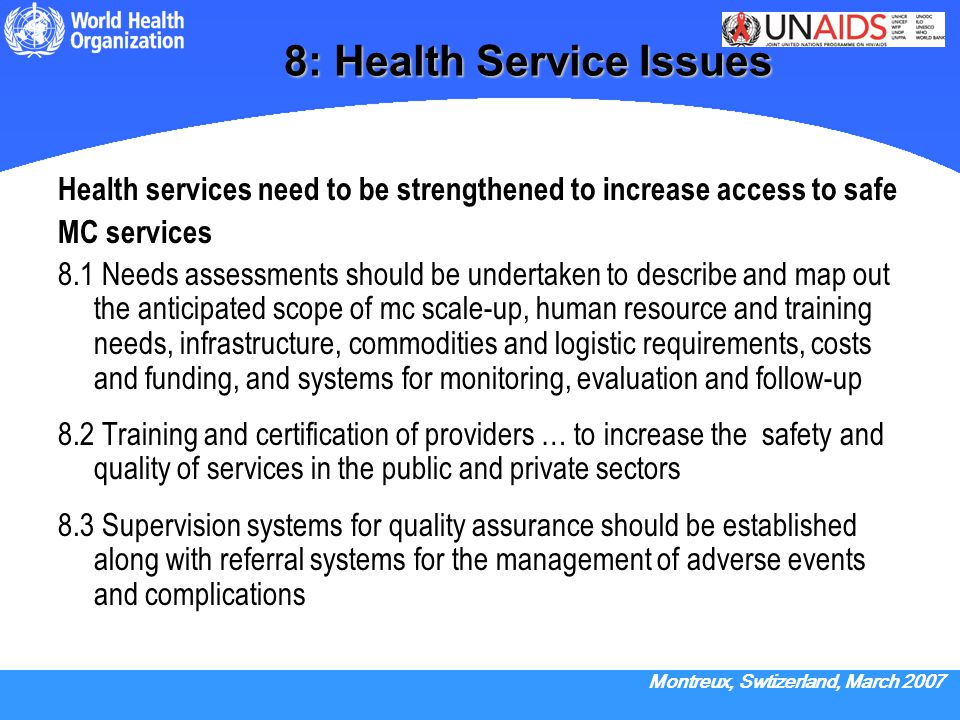 8: Health Service Issues