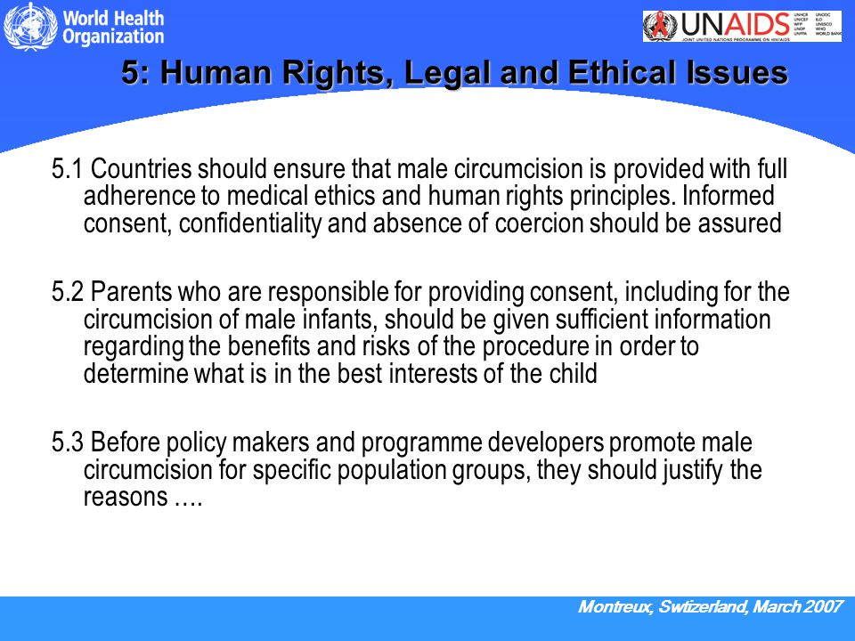 5: Human Rights, Legal and Ethical Issues