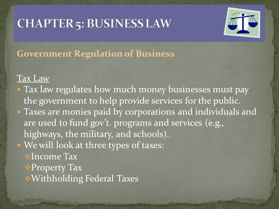 CHAPTER 5: BUSINESS LAW When you have completed this ...