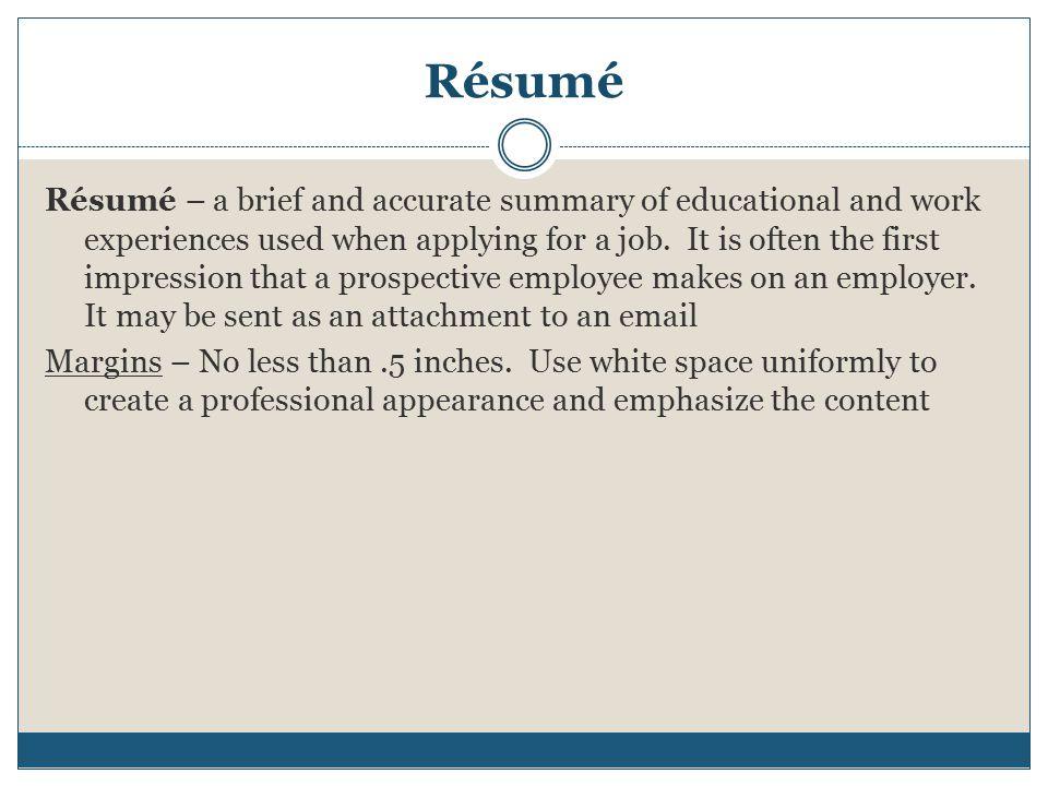 resume business letter memo ppt