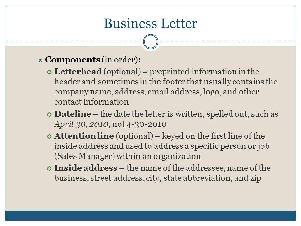 business letter and memorandum