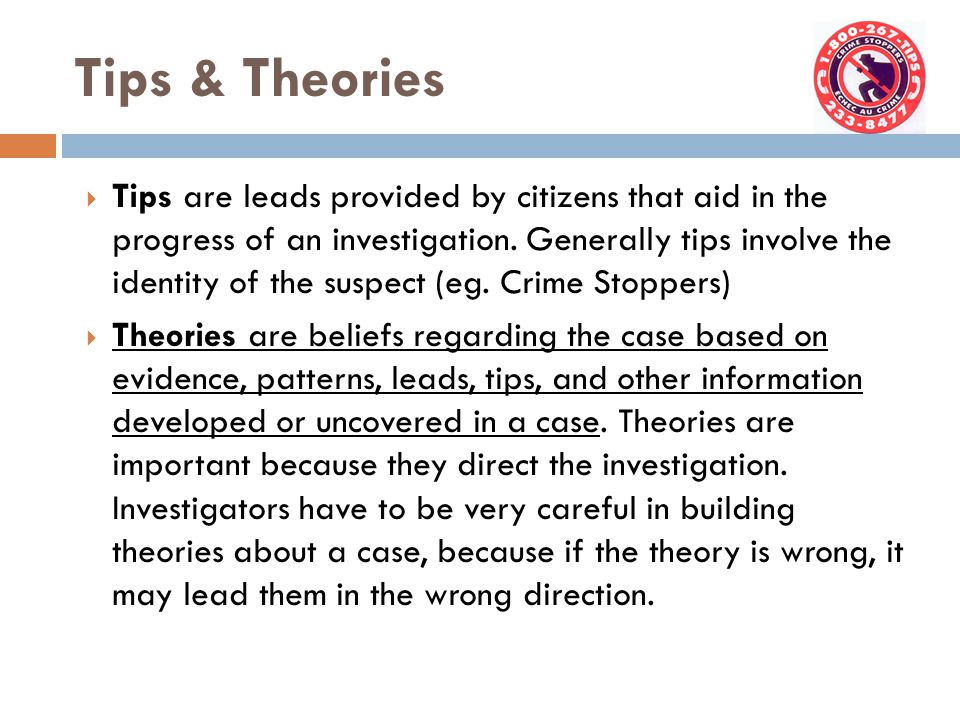 Tips & Theories
