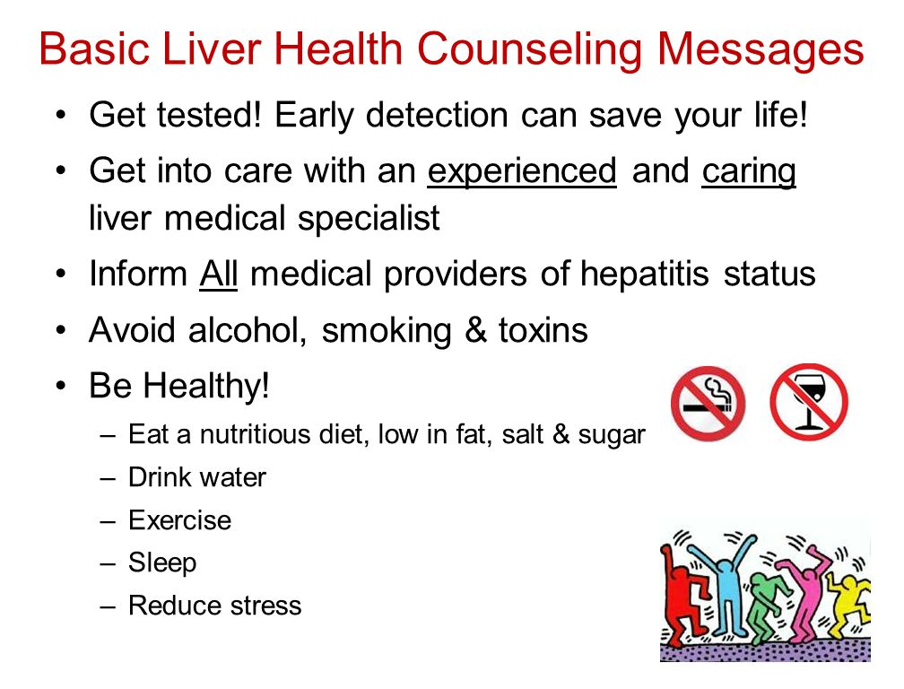 Basic Liver Health Counseling Messages