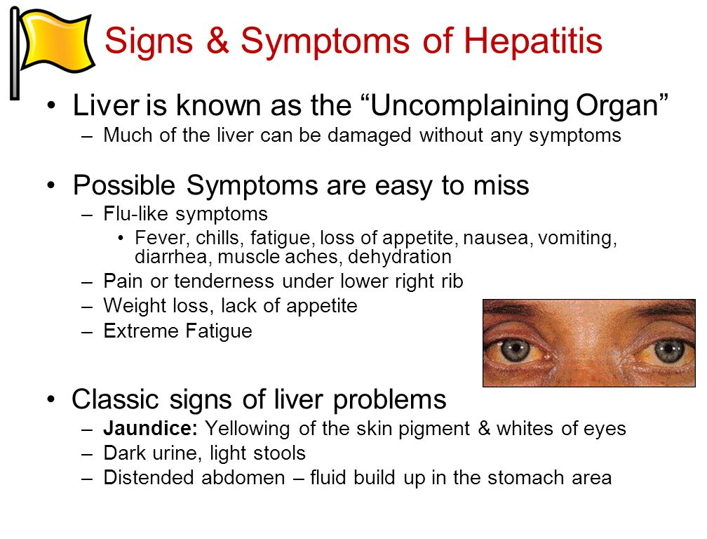 Signs & Symptoms of Hepatitis