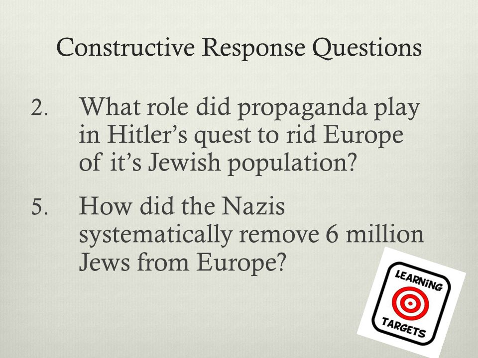 Outcome: The Final Solution - ppt video online download