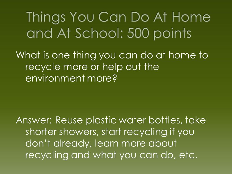 Benefits Of Recycling Jeopardy Ppt Video Online Download