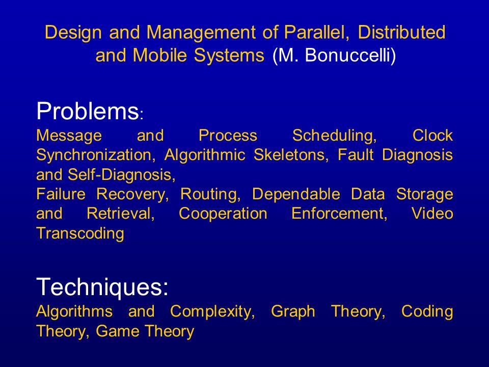 Problems: Techniques: