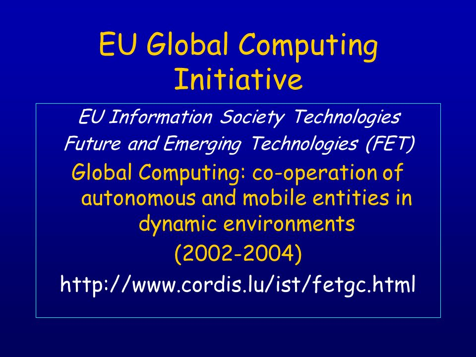 EU Global Computing Initiative