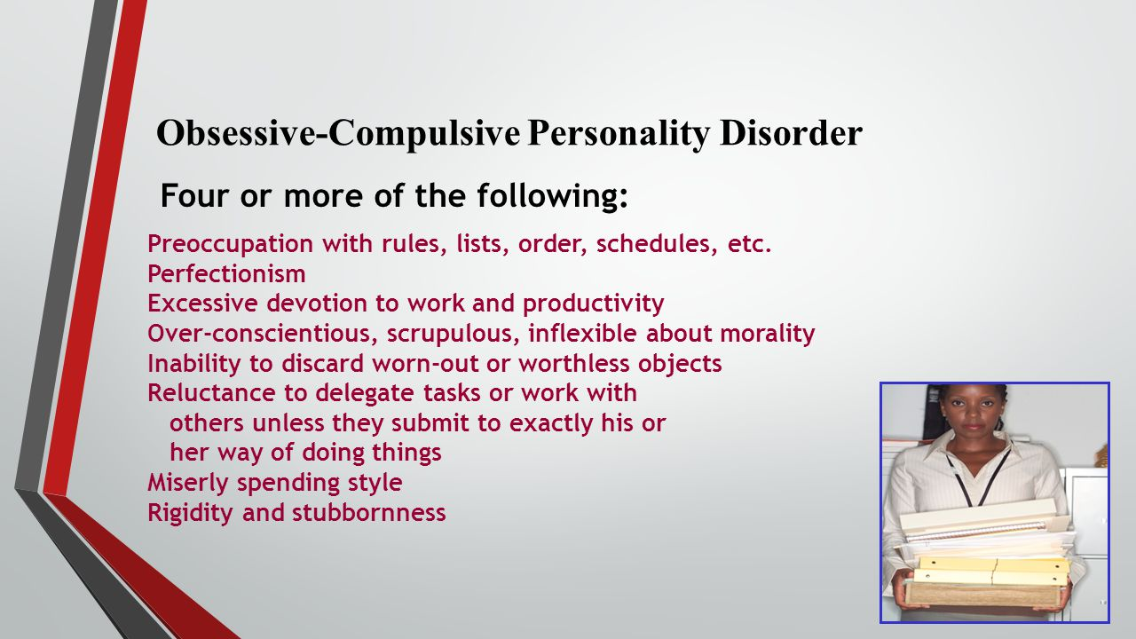 Obsessive-compulsive personality (disorder) | definition ...