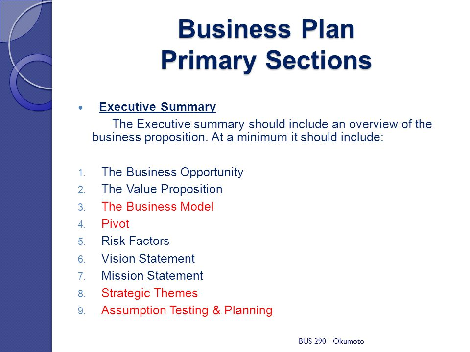 Mission Statement Business Plan