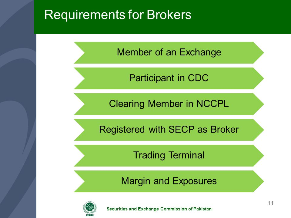 Requirements for Brokers