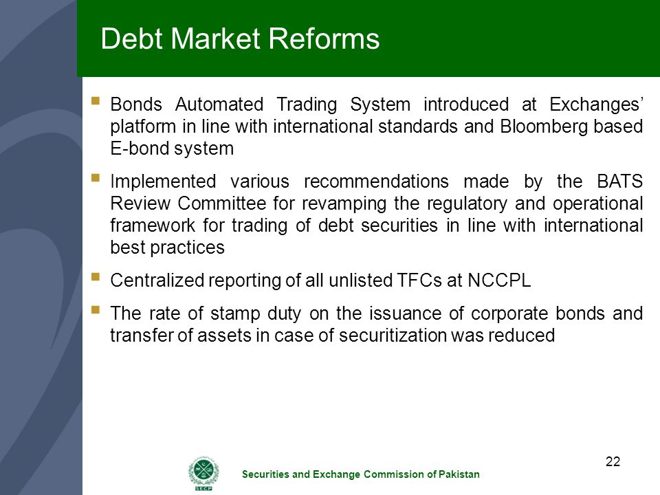 Debt Market Reforms