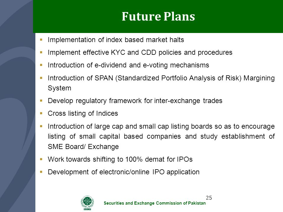 Future Plans Implementation of index based market halts