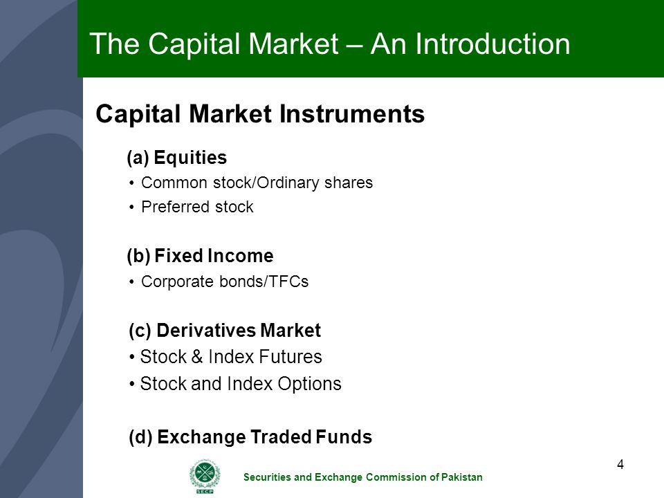 The Capital Market – An Introduction