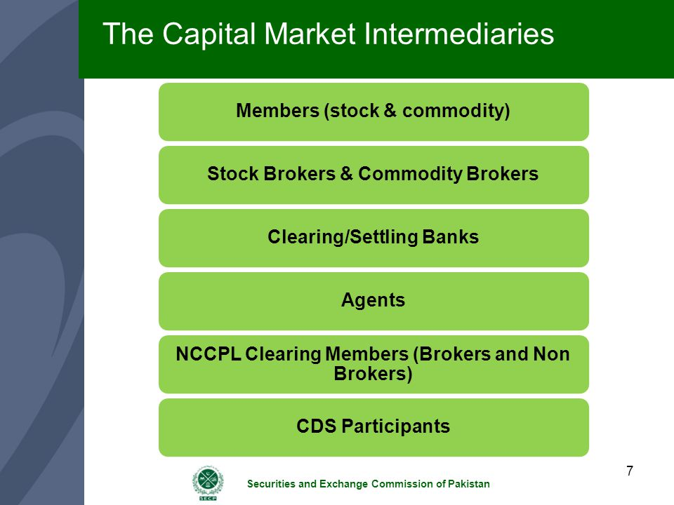 The Capital Market Intermediaries