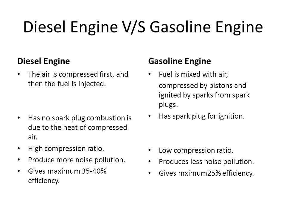 Diesel Fuel Vs Gasoline
