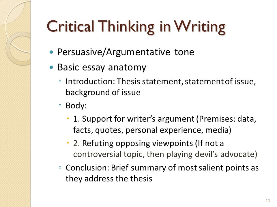 engaging students in critical thinking skills in class and beyond  10 critical thinking in writing
