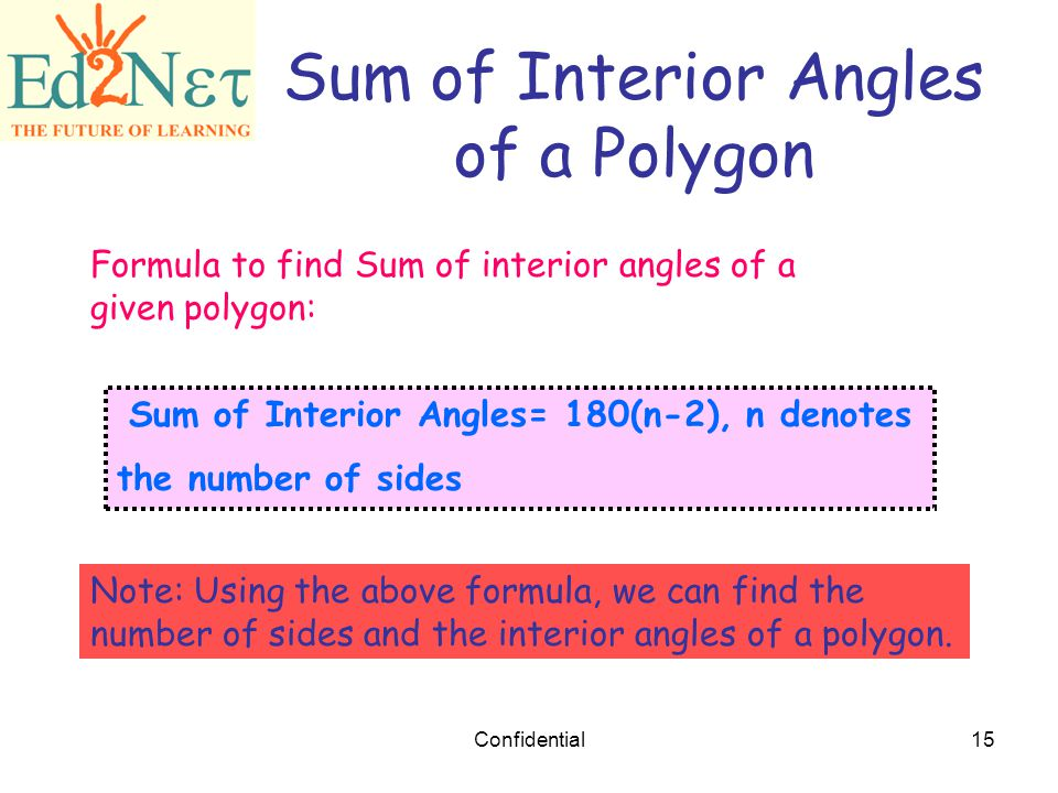 Our lesson polygons confidential ppt download for Formula finding sum interior angles polygon