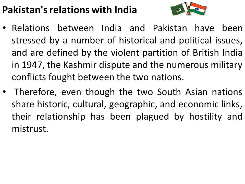 economic cooperation between india and pakistan relationship