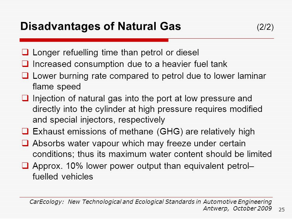 Compressed Natural Gas Energy Advantages And Disadvantages