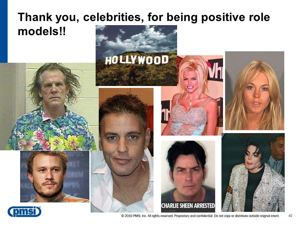 Celebrities', athletes' responsibilities as role models