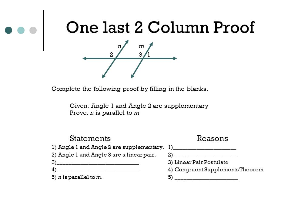 Introduction to Geometry Proofs ppt video online download – Two Column Proofs Worksheets