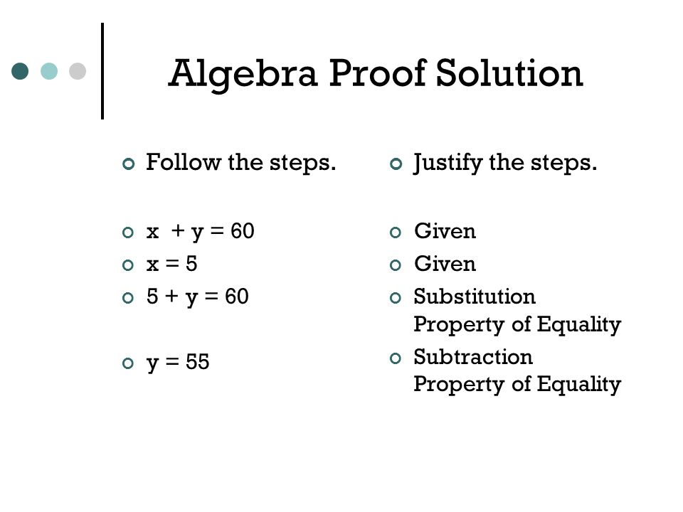 Introduction to Geometry Proofs ppt video online download – Algebraic Proofs Worksheet with Answers
