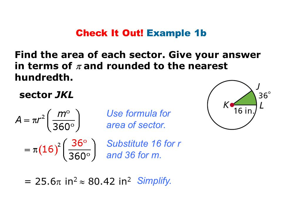 how to find the area of a segment