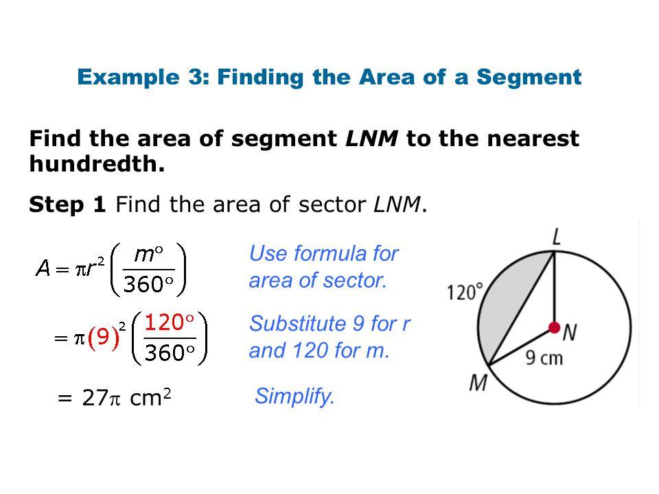 Area of sector formula