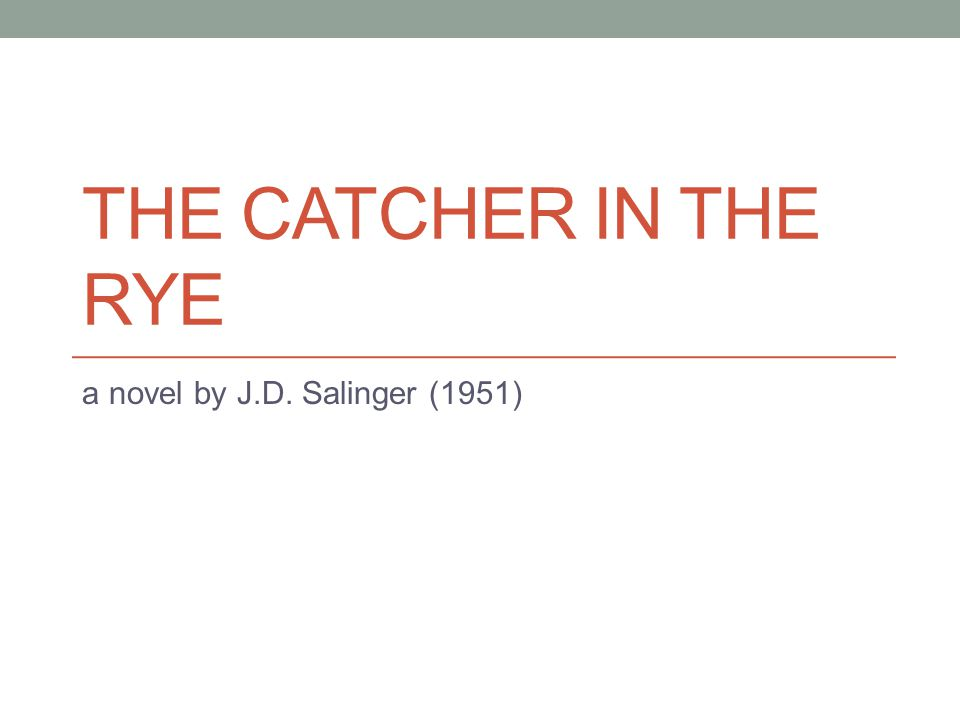 the theme of evil in the catcher in the rye a novel by j d salinger The catcher in the rye by jd salinger genres: fiction, classics goodreads anyone who has read jd salinger's new yorker stories, particularly a perfect day for bananafish, uncle wiggily in connecticut, the laughing man, and for esme--with love and squalor, will not be surprised by the fact that his first novel is full of children the hero-narrator of the catcher in the rye is an ancient.