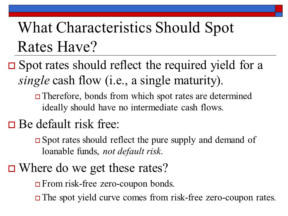how to find spot rate from yield