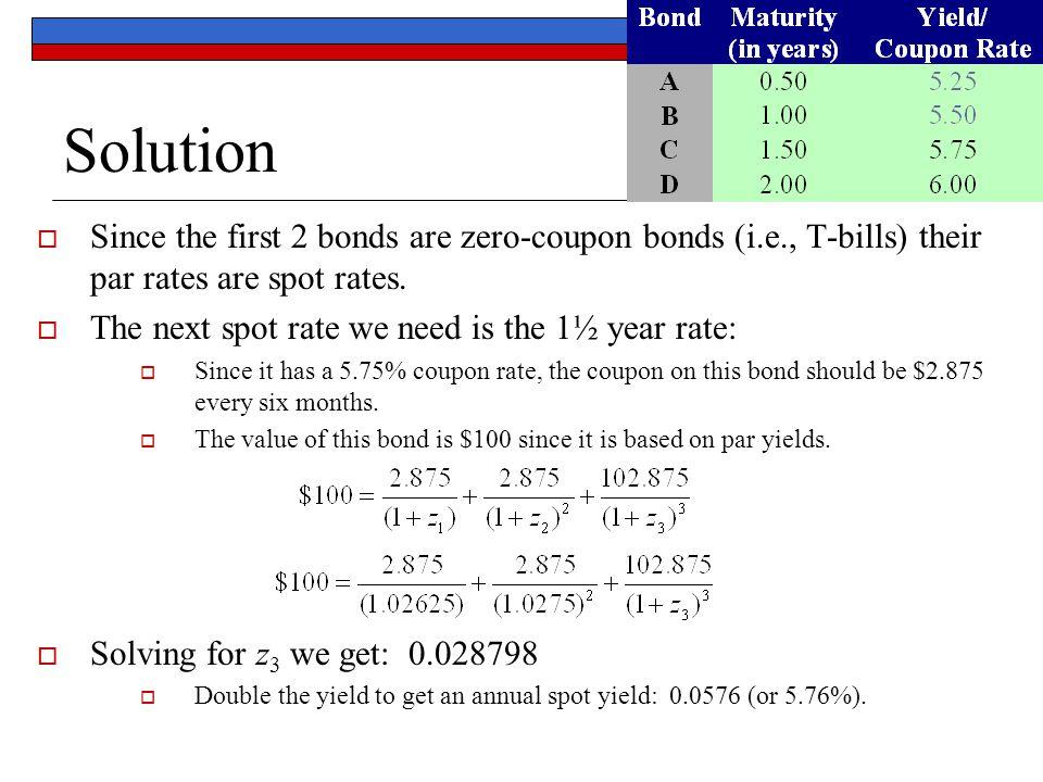 Que es zero coupon bonds